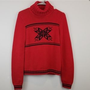 Ralph Lauren Red Sweater w Snowflake M